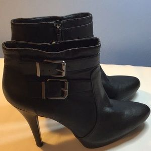 NINE WEST Bootie Black Leather